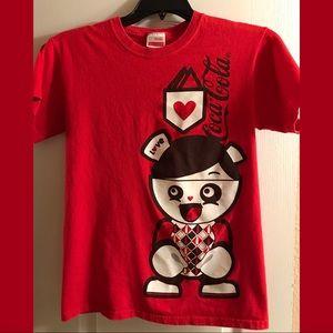 Super cute Coca Cola size Small t-shirt. Red